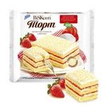 """Торт бисквитный """"BiSKonti"""" клубнично-сливочный"""