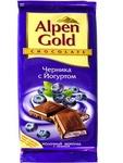 Шоколад Альпен Гольд Черника с йогуртом