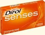 Жевательная резинка Dirol Senses Тропический вкус
