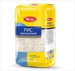 Рис  длиннозерный обработанный паром 800гр.Увелка