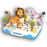 Конструктор-мозаика с шуруповертом 4 в 1 В мире животных