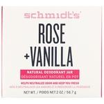 Дезодорант Schmidt's Naturals в баночке, роза и ваниль