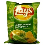 Чипсы картофельные Lays с малосольными огурчиками