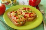 Горячие бутерброды с ветчиной и помидорами