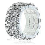 Fashionable Shining Finger Ring Rhinestones Orname