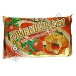 "Мини-кексы Русский бисквит ""Клубника со сливками"
