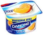 Йогурт Danone Персик и маракуйя 1,6% 110г