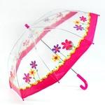 Зонтик  Цветы, прозрачный, 45см, TOP TOYS