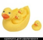 """Игрушка для ванной """"Уточка с утятами"""" Курносики"""